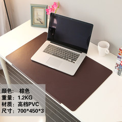 Upscale office desk pad pad pad pad desk desk computer desk mouse pad super - thick smell of Taiwan plate Brown 700*450*3
