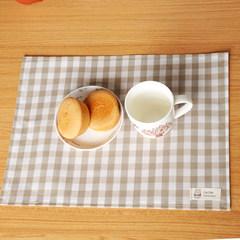 Classic Plaid striped cotton fabric pad bowl pad mat table mat mat waterproof insulation pad mat A princess mat Back towel 67*78