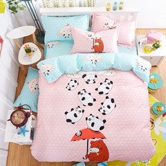 All cotton large edition four piece cartoon student bedsheets Quilt Children pure cotton kit 1.5/1.8m bedding 1.2m (4 ft) bed