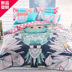 Four sets of cotton, spring and summer 1.8m bedding 2 Wedding Garden quilt bed single piece Jazz owl 1.5m (5 ft) bed