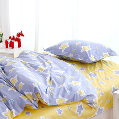 Package ~ foreign trade spring and summer children 3 sets of cartoon Suite 1 meters 2 single student dormitory cotton twill European and American style Dream starry sky, 3 pieces per person 1.2m (4 feet) bed