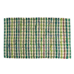 Kalemei imported handmade cotton pad folk style home doormat water bathroom sink foot mat Collect the shopping cart, send the freight insurance BYD 02- grass green