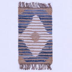 Xin Yue India imported handmade jute mat in denim mixed rectangular pad pad entrance door 50× 80CM J-02