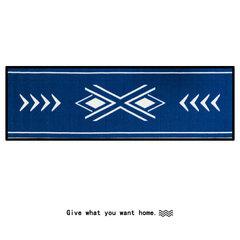 Original design of left Salt Road, Nordic minimalist strip mat, bedroom, kitchen, bathroom, door mat, anti-skid foot pad 50X120CM Alesund