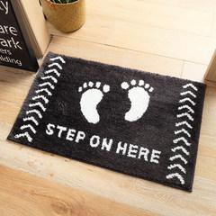 Flocking mat household bath mat mat bedroom kitchen and bathroom water mat 50x80CM Little foot