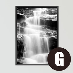 Porch vertical decorative painting corridor hanging drawing living room Nordic black-and-white stone landscape modern simple background painting 40*60 (cm) simple white frame G style fl16716-5 & Lt; The pebbles & amp; Gt; A single price
