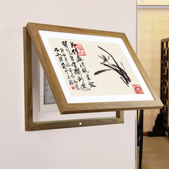 Simple new Chinese style electricity meter box decoration painting distribution box zen ink murals living room dining room study painting 60*60 simple white fresh frame C mulan oil painting cloth mulch + low reflection organic glass