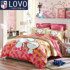 Lovo Carolina textile bedding cotton Tuzki life produced four sets of cotton tuski Music Suite 1.5m (5 feet) bed