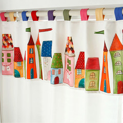 Lovely children, boys and girls bedroom windows curtains shading curtain cloth curtain house cartoon short Princess Castle Without shade head + flat