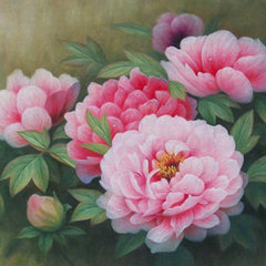 Sticking drill, cross stitch, peony full drilling, new point drilling, painting living room, bedroom blooming, rich and sticky diamond, Chinese diamond painting Peony 70X50CM full of drilling