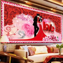 Full diamond diamond painting, new diamond embroidery paste drill, cross stitch point drill brick, married bedroom, lovers' living room, simple modern [208X92] cm large cross stitch thread