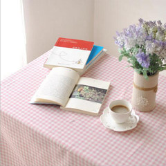 The wood Wan Qing retro Pink Plaid small fresh table cloth cotton cloth tablecloth table desk cloth Customized do not change, take the change