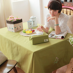 The new green pastoral life Xin embroidered tablecloth table cloth color simple rectangular tablecloth cover towels 65+17 vertical *180cm