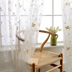 纱帘特价清仓成品简约现代沙帘客厅阳台卧室落地窗纱白纱窗帘布料 每米不加工价格