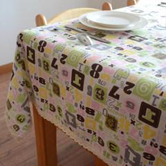 A Korean small fresh garden cotton fabric table cloth tablecloth table cloth tablecloth thickened small cloth Digital alphabet 80+17 vertical *180cm
