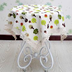 Round rectangle, fresh garden table cloth, green lovely cartoon round table cloth, square coffee table cloth Fairy tale Garden 80*80cm
