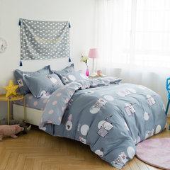 牧笛纯棉卡通四件套全棉儿童套件三床品床品简约被套床上用品婚庆 梦西山N 1.5m(5英尺)床