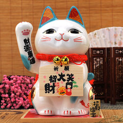 Stone hand workshop cat piggy bank genuine oversized gift ornaments shop opened thousands of passengers Wan Caiyuanguangjin (not hand)