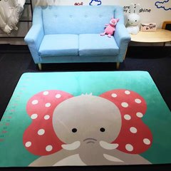 Ins cartoon mats cashmere home mats anti-skid mat bedroom living room decoration cushions children climbing fall proof pad