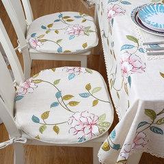 Table linen cloth upholstery cushion cotton cloth cushion chair cushion winter suit core washable horseshoe pad Trumpet (45*24 cm)