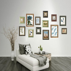 European style American solid wood mix and match photo wall, retro do old background wall, creative wall hanging picture frame, living room new 13 frame Cara Dahl Mashup