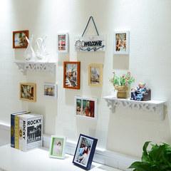 天天特价客厅卧室照片墙装饰相框墙挂墙相框组合墙上面欧式相片墙 白原胡小镇印象(置物架)C款
