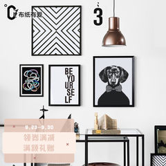 Do your own Nordic bedroom photos, wall restaurants, photo frames, simple modern living room creative combination of irregular hanging All white frame