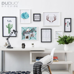 Love the home picture wall living room, northern Europe hangs painting, modern simple and fresh dining hall, picture frame combination hang wall Black and white combination