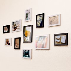 Rural style 11 - frame American country photo wall small fresh and simple modern photo frame wall paste combination living room decoration all white. Those years