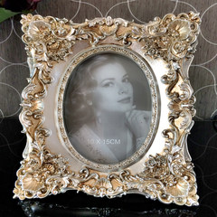 Creative European classic palace frame frames placed a 67 inch horizontal wedding combination luxury decorative frame for children 7 inch Retro Silver
