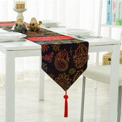 Southeast Thailand folk style cotton double linen cloth gift Chinese retro classical Chinese tea table cloth Southeast Asian runner Customized do not change, take the change