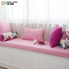 Custom custom cushion pad pad window sill sofa cushion fresh garden style color pink thick sponge pad You can edit it after you select it