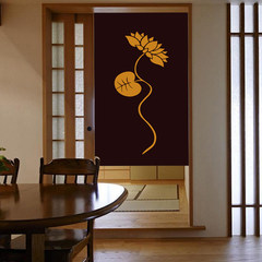 Japanese style curtain curtain cloth curtain cloth curtain entrance Feng Shui bedroom curtain curtain hanging mosquito lotus 90*150cm pre-sale products to send rod