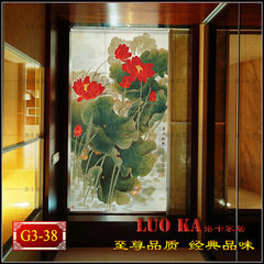 Simple hand painted cotton linen, Chinese translucent door curtain, cloth garden door, partition curtain, rolling shutter Club load