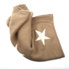 European stars Star Knitting office car pillow cushion cover sofa backrest cover pillow sleep Trumpet (45*24 cm)