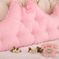 Big back, bedside cushion, Princess double back, Korean Princess House accessories series Large square pillow: 50X50cm