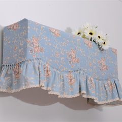 Fabric air conditioner cover, air conditioning sleeve, hang type dust hood, nostalgic European style blue #a Pleasing to the eye, the 181 highest