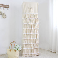 New lace cover vertical air conditioning cabinet air conditioner cover dustproof cover circular cylindrical washable cloth cover Pleasing to the eye, the 181 highest