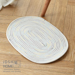 Simple cotton padded mat, foot mat, table mat, bathroom, water absorption, anti-skid door gasket, washable oval cushion 500MM× 350MM