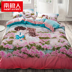 The south pole is full cotton thickening and grinding warm four piece cotton set, autumn and winter bedding 1.5/1.8m bed, 1.5m (5 ft) bed.