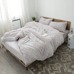 Honey, Nordic, simple autumn winter, warm baby cashmere four piece 1.8 thick bed sheets quilt, flare down kit, love baby velvet 1.5m (5 feet) bed.