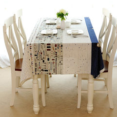 Pick up the light | time machine | beioufeng cute small plane cotton fabric table cloth tablecloth table cloth 90+17 vertical *160cm