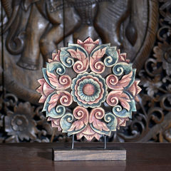 Thai style hand-painted decorative wood carving crafts decorative ornaments Southeast Asian style Home Furnishing desktop