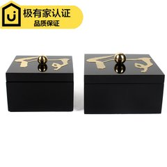 The new modern Chinese wooden jewelry box storage box display model room living room cabinet Home Furnishing soft decoration decoration