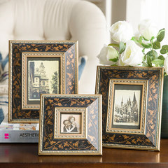 American French Carved gilt frame European retro elegant frame frame like creative soft outfit model room table 3 inch