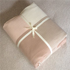 Japanese style simple style, cotton bed product kit, washcloth, cotton quilt, quilt cover, comfortable single piece, bag, bag, mail, 200X230cm, powder, gray.