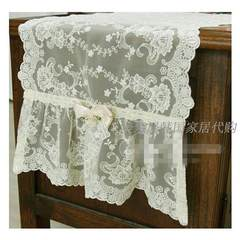 South Korea imported lace tablecloth table runner TV cabinet table flag decoration luxury purchasing genuine 65+17 vertical *180cm