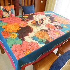 Cartoon table tablecloth rectangular table table cloth tablecloth table cloth super cute Home Restaurant 180*140cm