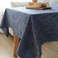 Simple Japanese plain rectangular solid coffee table linen tablecloths table table tablecloth TV cabinet 65+17 vertical *180cm