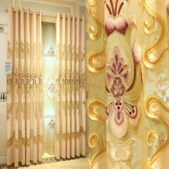 Simple European style curtains embroidered semi-finished shade cloth drapes for the living room window window curtain custom You can edit it after you select it Yarn per metre